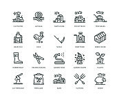 Farm and Agriculture Icons - Line Series