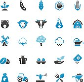 Quartico vector icons - Farm and Agriculture