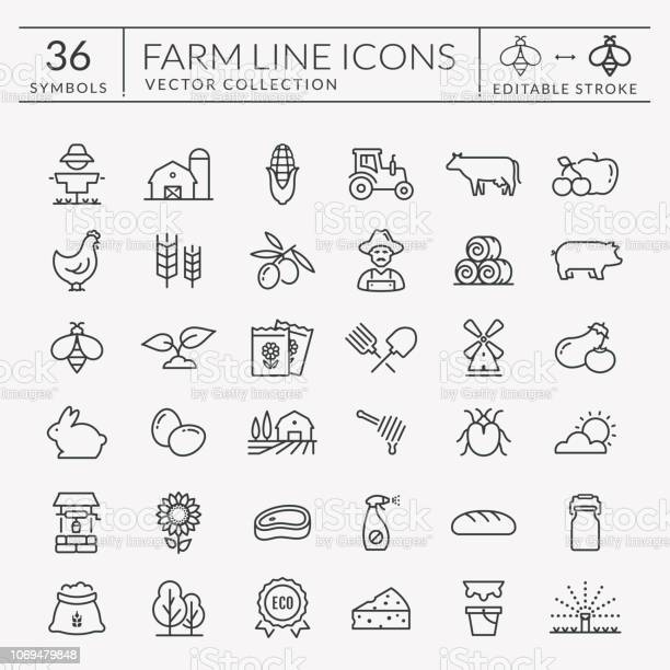 Farm and agriculture vector line icons editable stroke vector id1069479848?b=1&k=6&m=1069479848&s=612x612&h=re1qggxoby74qxbjenuroo0s0aqzeo 0mzntsmaxbem=
