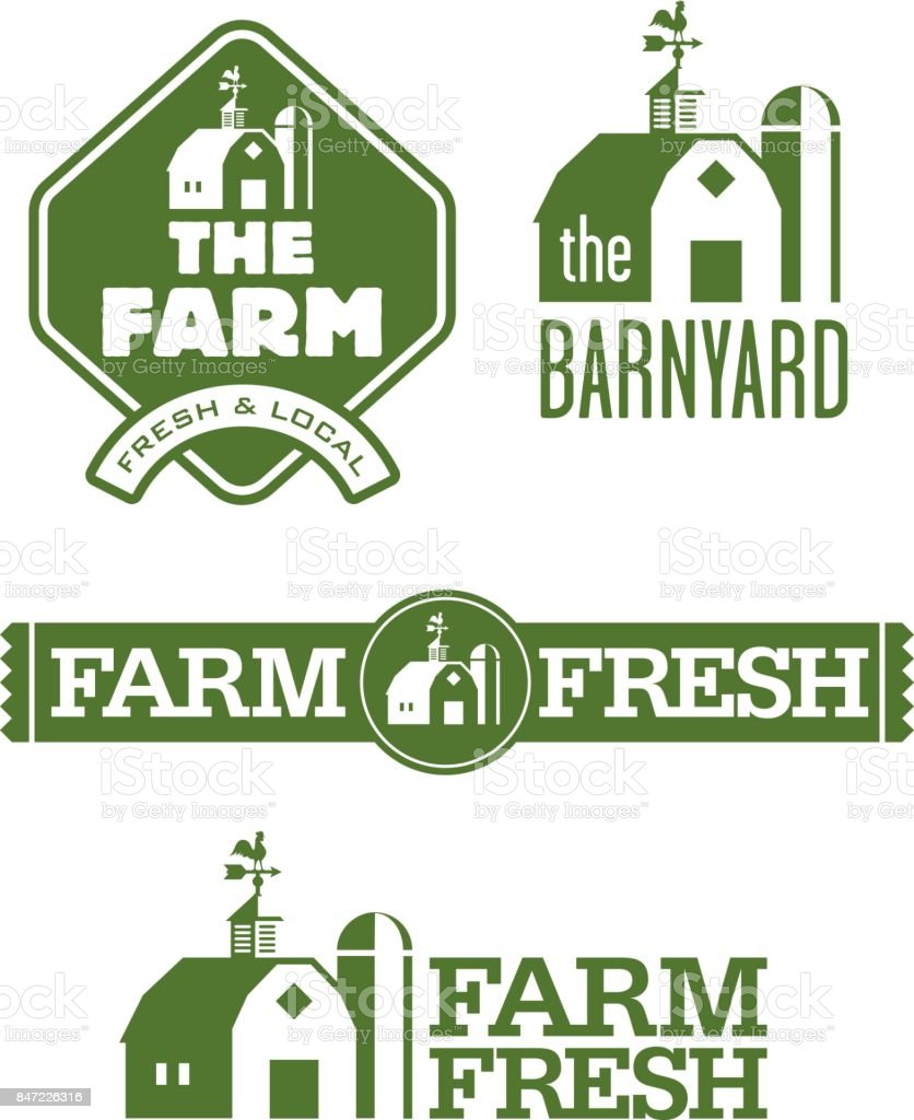 Farm and Barn s vector art illustration