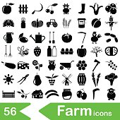 farm and farming big simple icons set vector eps10