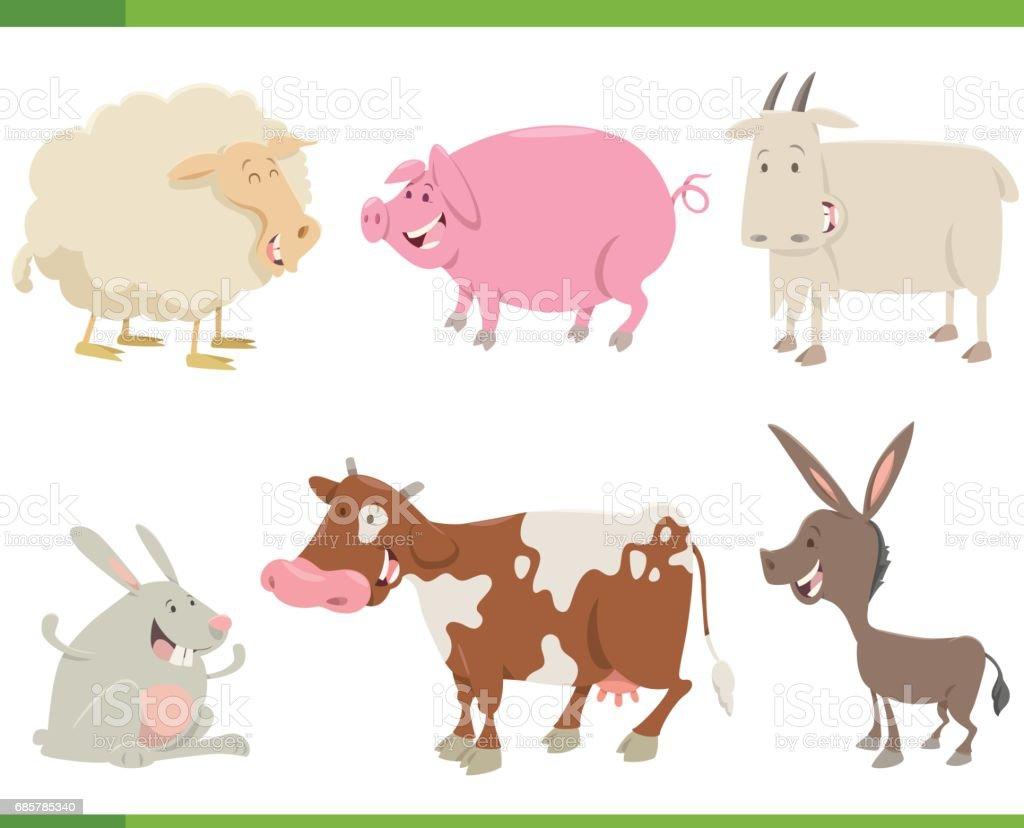 çiftlik hayvan karakter kümesi royalty-free çiftlik hayvan karakter kümesi stok vektör sanatı & animasyon karakter'nin daha fazla görseli
