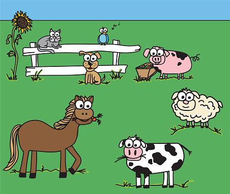 Farm Animal Googly Eye Doodles