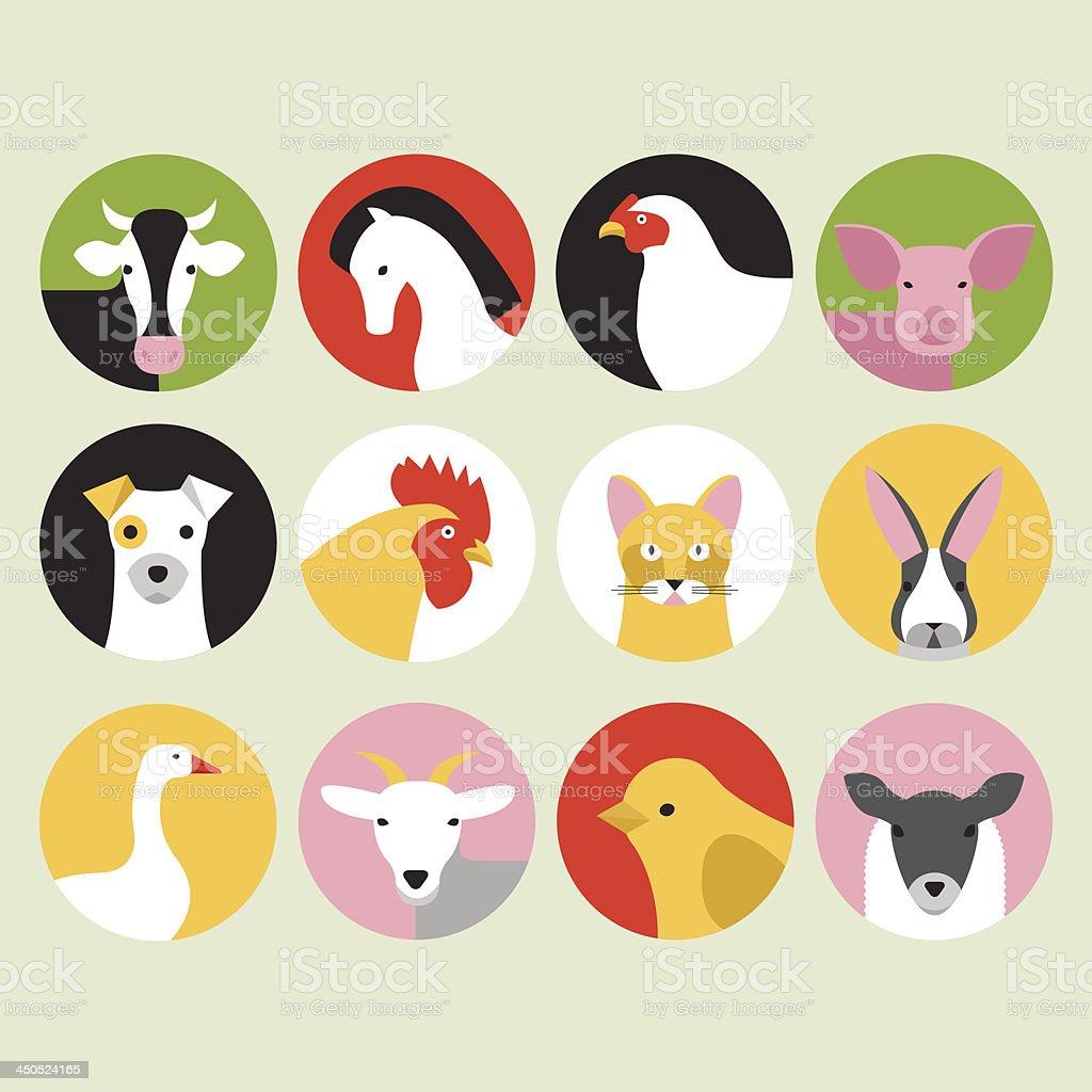 Farm animal icons royalty-free farm animal icons stock vector art & more images of animal