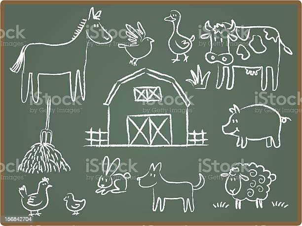 Farm animal on chalkboard vector id156842704?b=1&k=6&m=156842704&s=612x612&h=xtssjeqakczqbv8roduahrgkttn hxu w3ahkqlugbo=