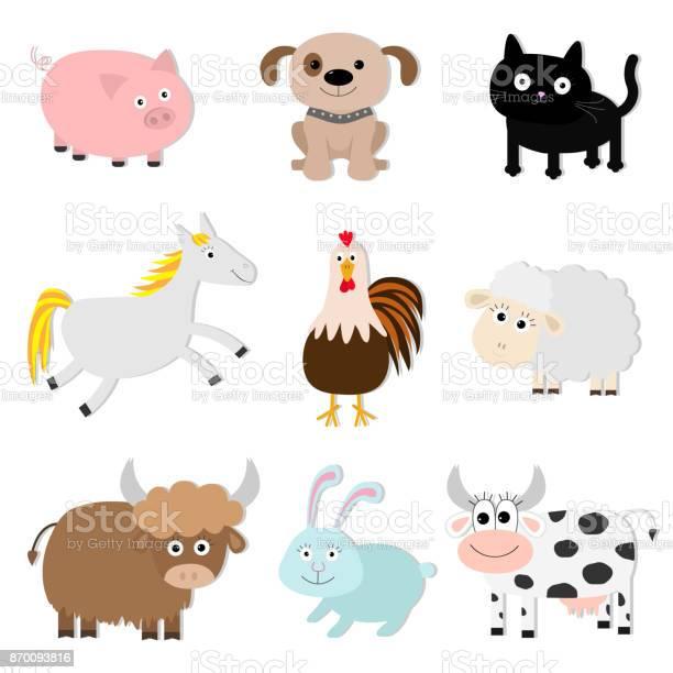 Farm animal set pig cat cow dog rabbit ship horse rooster bull baby vector id870093816?b=1&k=6&m=870093816&s=612x612&h=0ujrde553keggaswcny2so8x giw4ifpistucwc3qug=