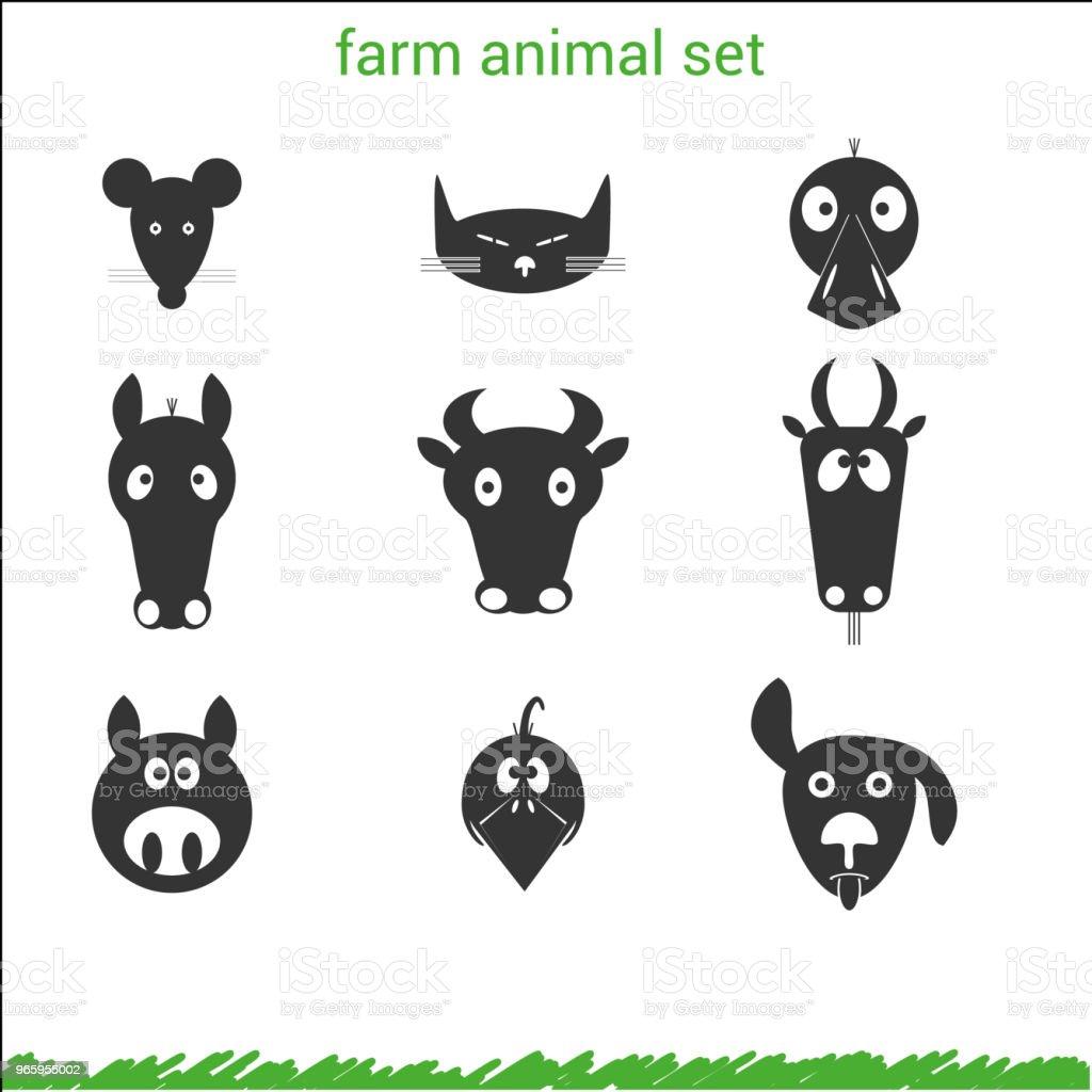 farm animal set - Royalty-free Computer Graphic stock vector