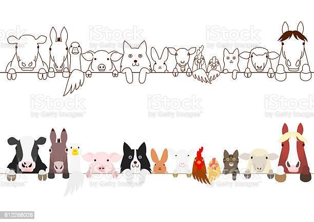 Farm animals border set vector id612268026?b=1&k=6&m=612268026&s=612x612&h=rmfmqery6omgplbyo20g2avxyc4uusaunucxv2gton8=