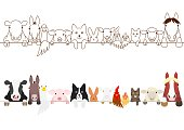 farm animals border set
