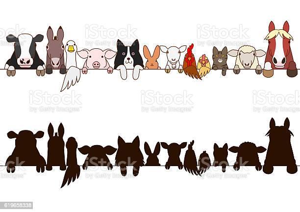 Farm animals border with silhouette vector id619658338?b=1&k=6&m=619658338&s=612x612&h=f7eih5dwewkm j8tfjviqduxhvtn3pde60bzbuyrrge=