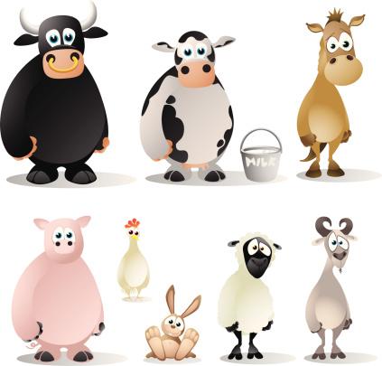 Farm Animals Cartoon Collection
