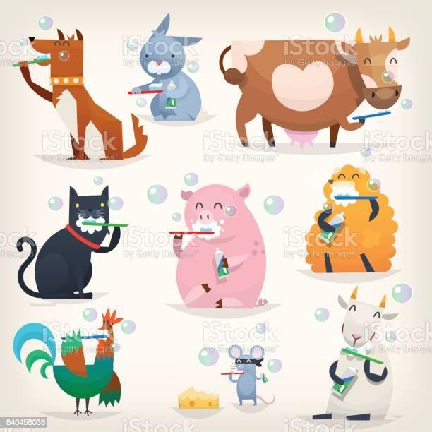 Farm animals clean teeth vector id840458038?b=1&k=6&m=840458038&s=612x612&h=6mwecgjb4tf914v3g wbhelmti5ezfnoohsryccoofe=
