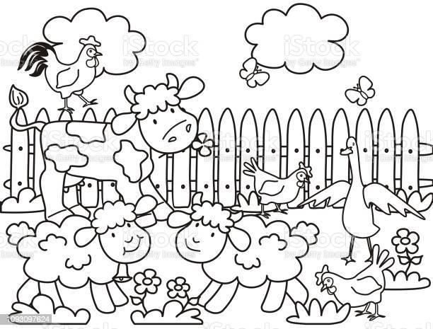 Farm animals coloring page vector id1093097624?b=1&k=6&m=1093097624&s=612x612&h=sonf4mzfd16gfrrugiknjkxdcxwnvq9oyjpxh1xkbgc=