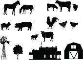 Make your own farm with farm animals, farmhouse, windmill, tree and barn. All elements are on separate and editable layers. Download includes a large high res jpeg.