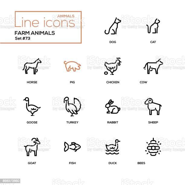 Farm animals line design icons set vector id898373860?b=1&k=6&m=898373860&s=612x612&h=01ualiwgxrcsrhjemwidsehfbxm2o2os43u6rhkjtgi=