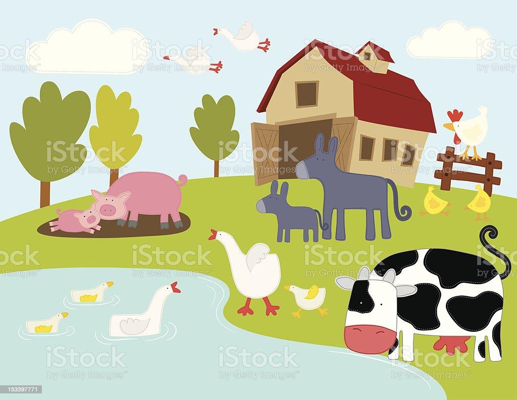 Farm Animals stock vector art 153397771 | iStock