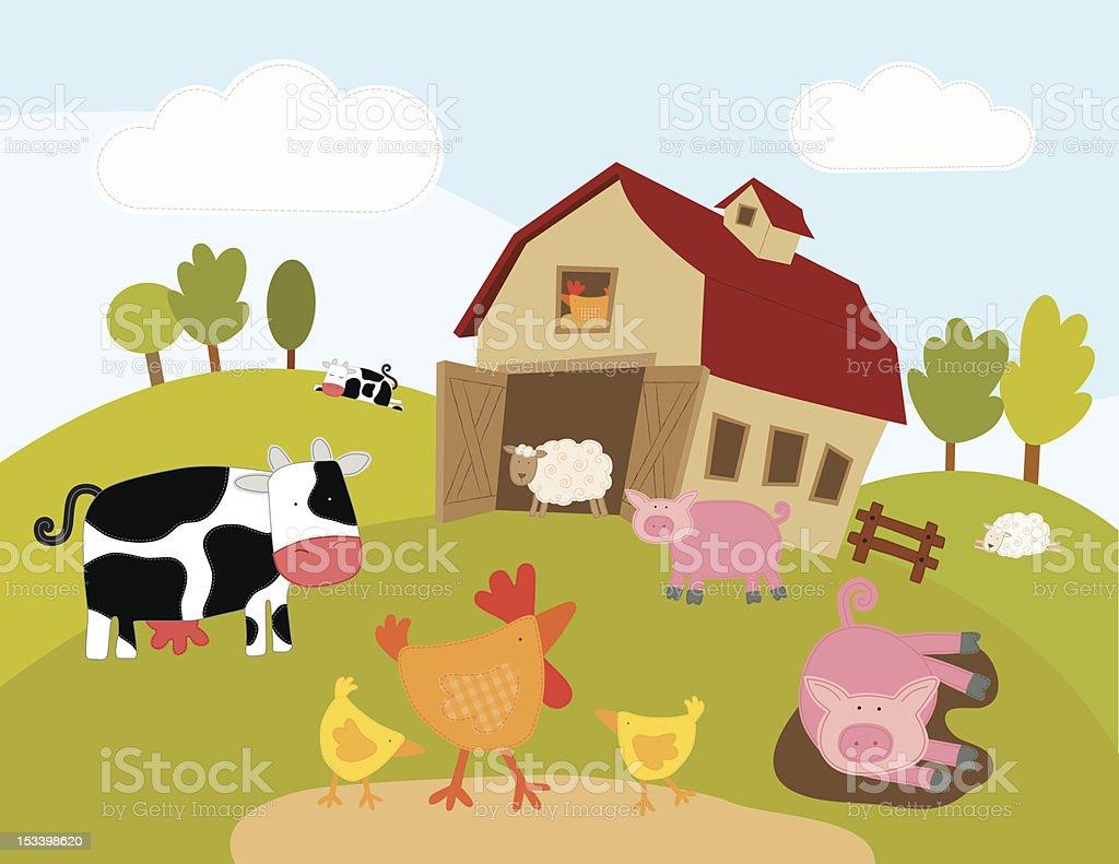Farm Animals (Series) vector art illustration