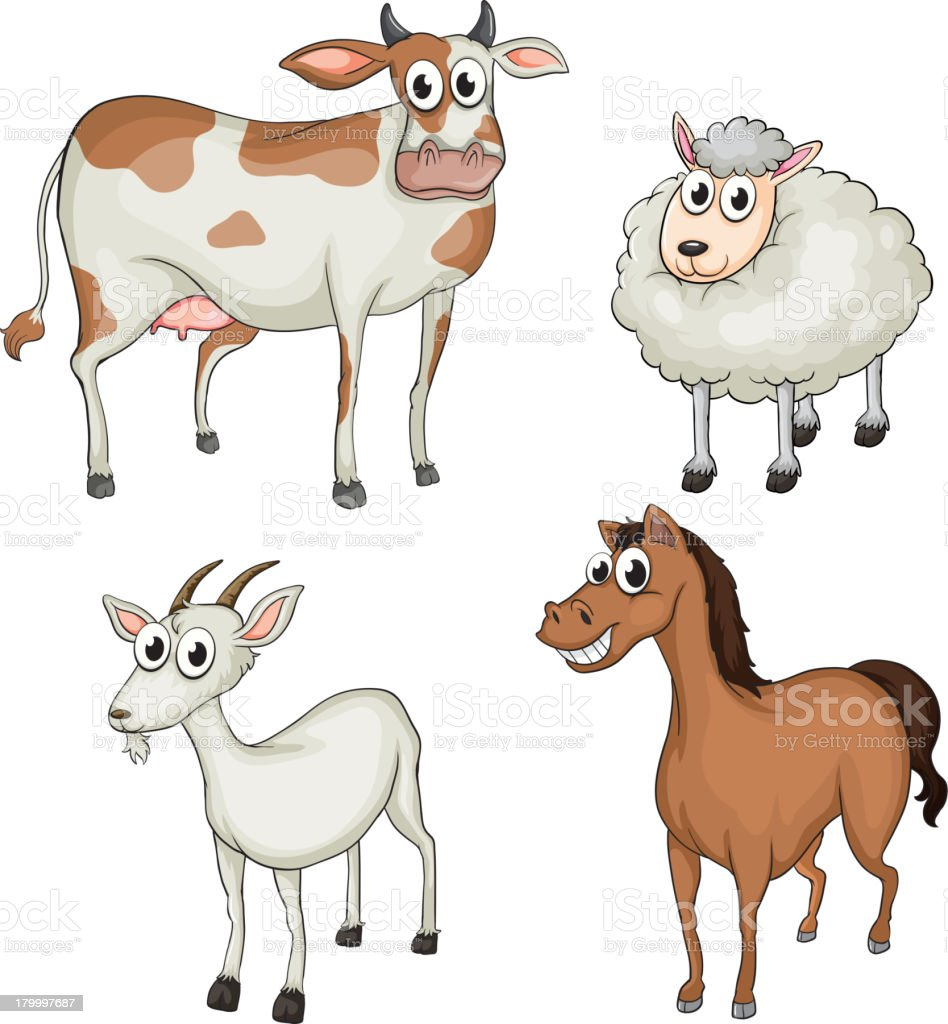 Farm animals royalty-free stock vector art