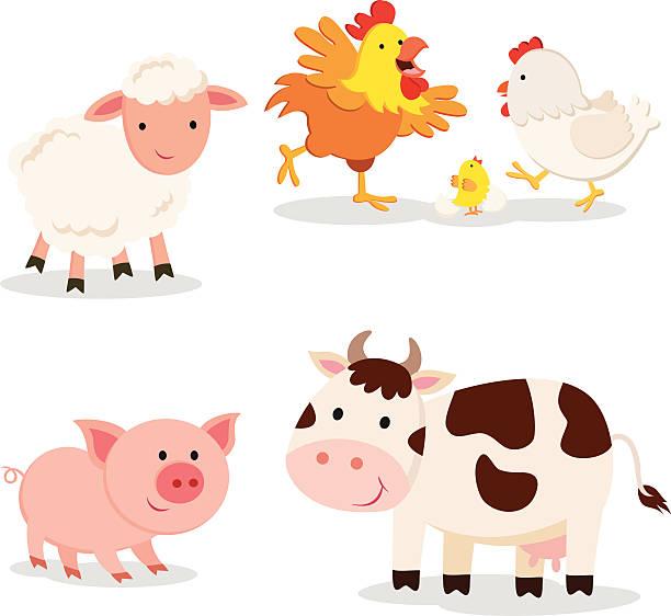 bauernhof tiere - lustige kuh bilder stock-grafiken, -clipart, -cartoons und -symbole