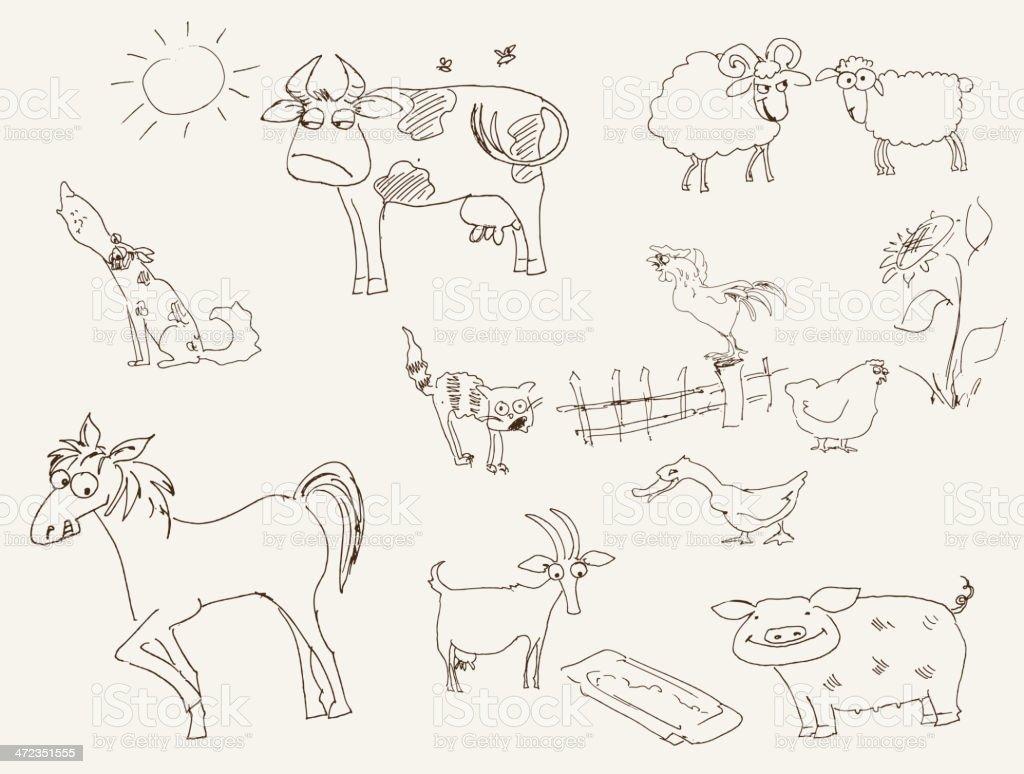 farm animals royalty-free farm animals stock vector art & more images of animal