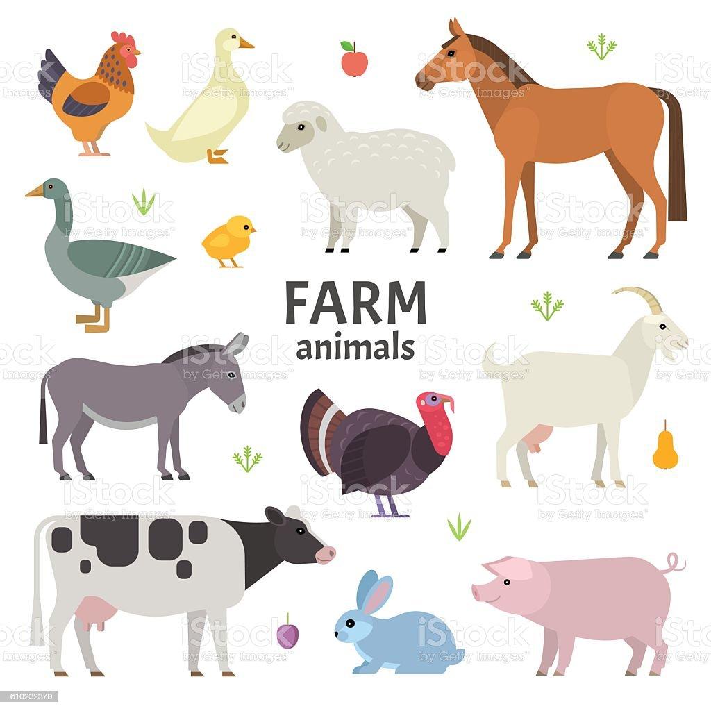 Animais de fazenda  - ilustração de arte em vetor