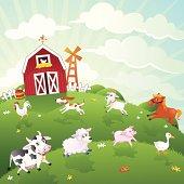 istock Farm Animals Vector Illustration Series 165962495