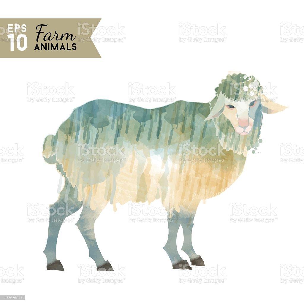 ファーム動物ます水彩ベクトルイラストの羊 15年のベクターアート素材や画像を多数ご用意 Istock