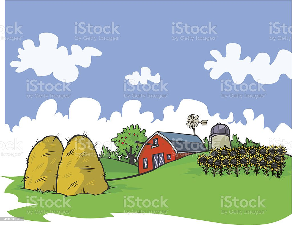 Farm background. royalty-free stock vector art
