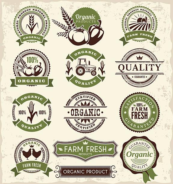 Farm Badges  agricultural fair stock illustrations