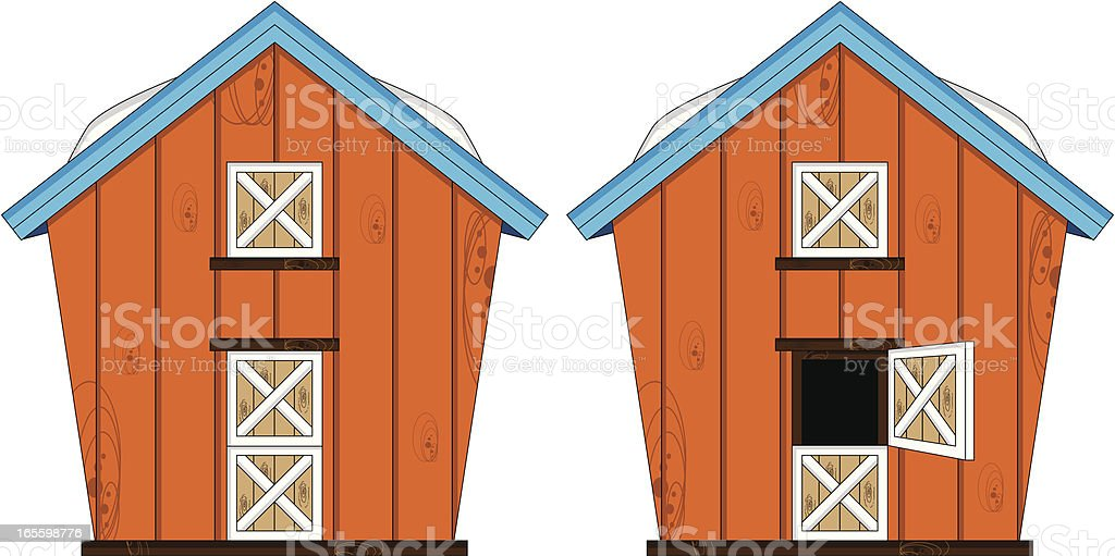 Farm Barn Building royalty-free farm barn building stock vector art & more images of agriculture