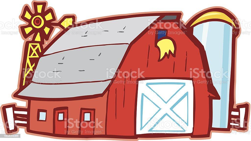 farm barn cartoon stock vector art more images of barn 165634086