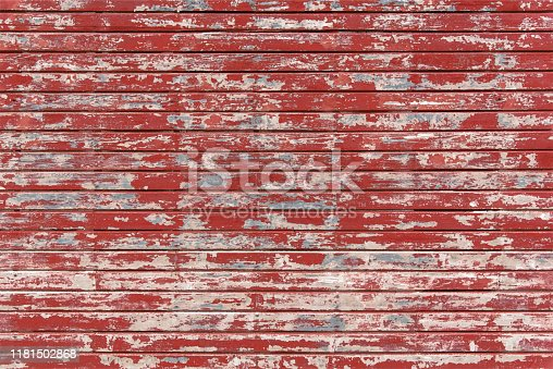 Farm Old Rustic Barn Red Wood Wall Peeling Paint Grunge Wooden Panels Planks Illustration