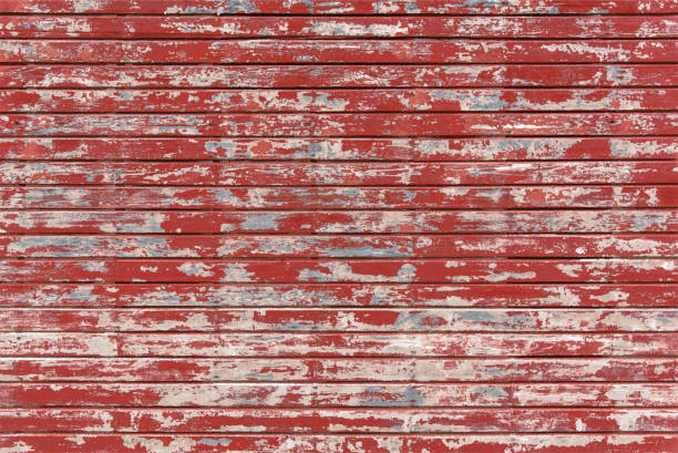 Farm Barn Red Wood Wall Vintage Grunge Wooden Panels Illustration vector art illustration