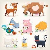 Farm birds and animals