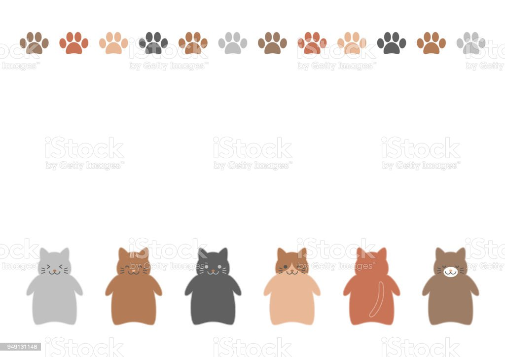 Bauernhof Katzen Grenze Stock Vektor Art und mehr Bilder von ...
