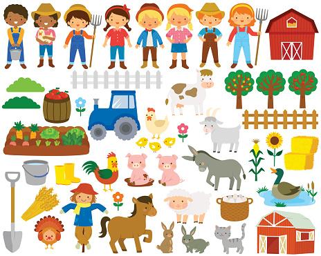 Farm clip art set