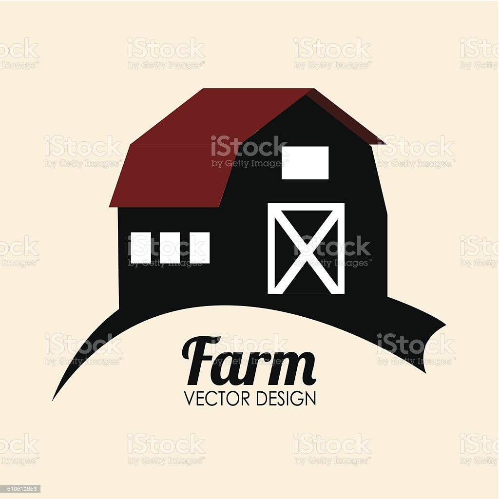 Farm design vector art illustration
