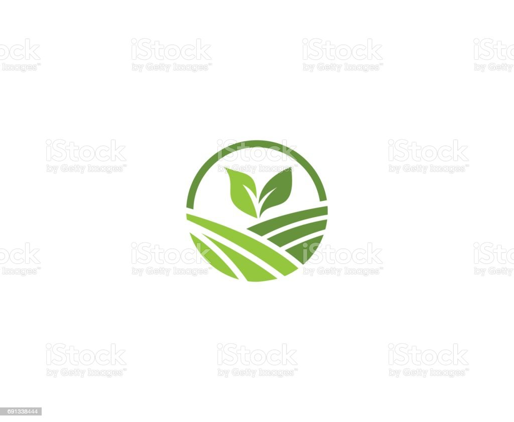 Farm emblem vector art illustration
