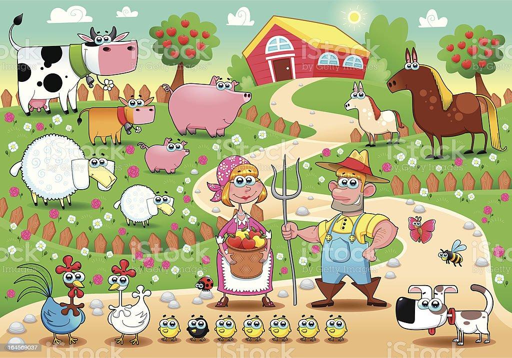 Farm Family. royalty-free stock vector art