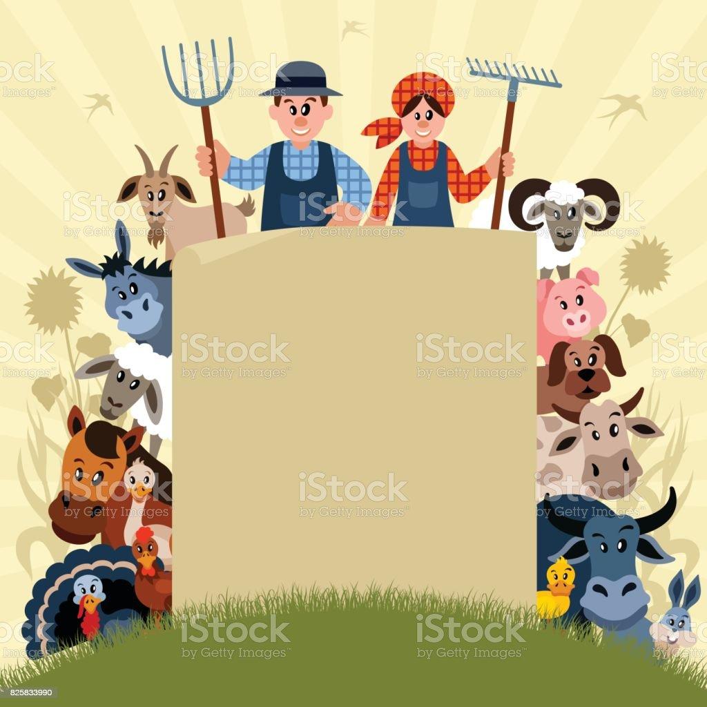 Fazenda da família - ilustração de arte em vetor