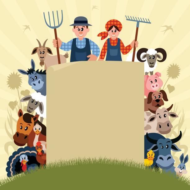 Best Farm Animal Cartoons Illustrations, Royalty-Free ...