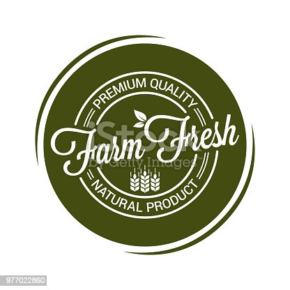 farm fresh product seal on white background 8 eps