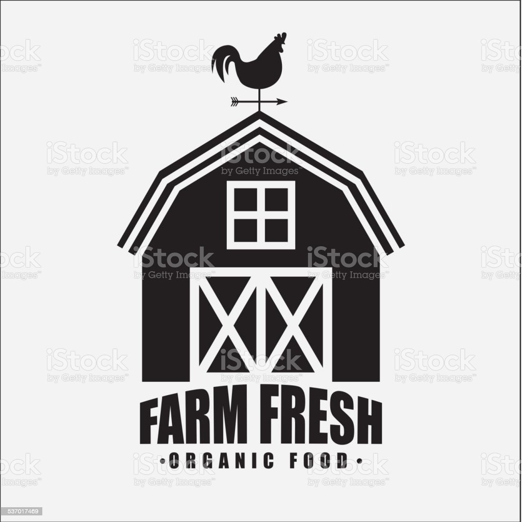 farm fresh vector art illustration