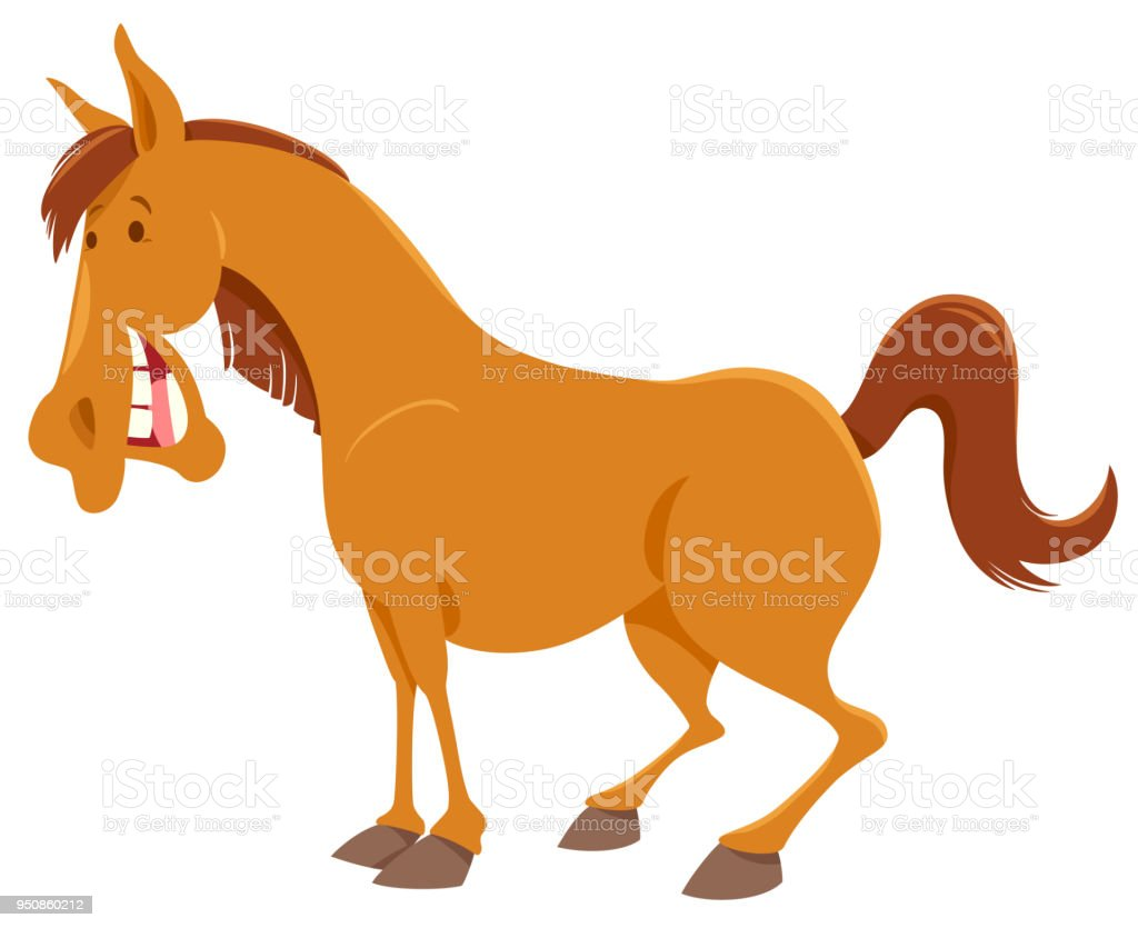 Farm Horse Cartoon Animal Character Stock Illustration Download Image Now Istock