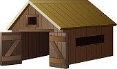 Farm house cartoon