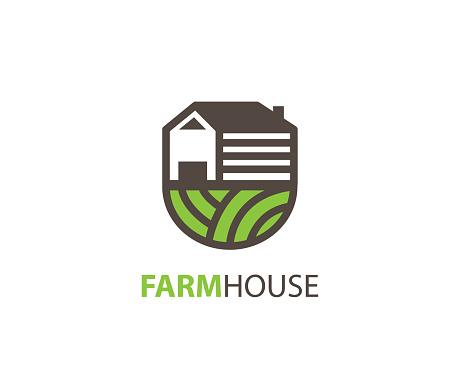 Farm house design vector