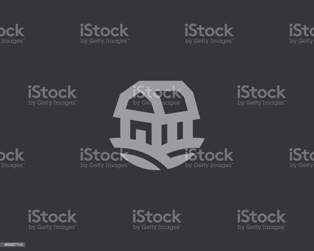 Farm House Vector Logotype Natural Farm Organic Products Logo Symbol