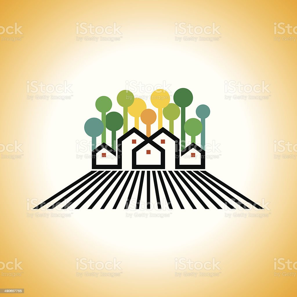 farm house vector vector art illustration