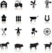 Farm Icon Set. High Resolution JPG,CS5 AI and Illustrator EPS 8 included. Each element is named,grouped and layered separately.