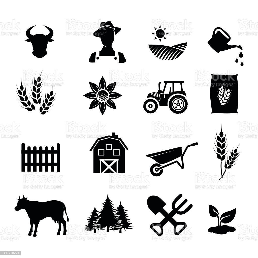 Farm icon set vector illustration vector art illustration